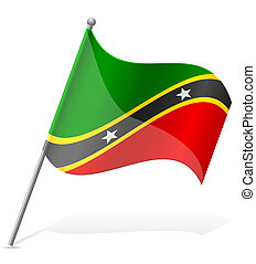 flag of Saint Kitts and Nevis vector illustration isolated...