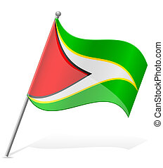 flag of Guyana vector illustration