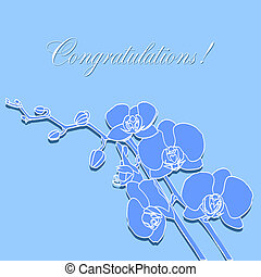 greeting card with orchids