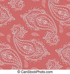 Seamless Paisley pattern - Elegant Paisley pattern Hand...