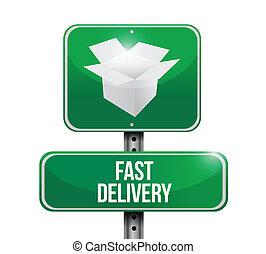 fast delivery sign illustration design