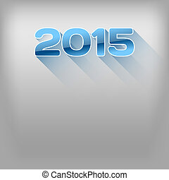 Long Shadows 2015 - New year 2015. Simple blue numbers with...