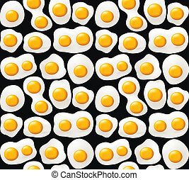 Fried eggs. Seamless background