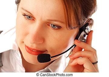 Call centre executive - Closeup portrait of a yound...