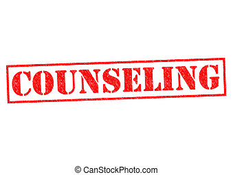 COUNSELING red Rubber Stamp over a white background