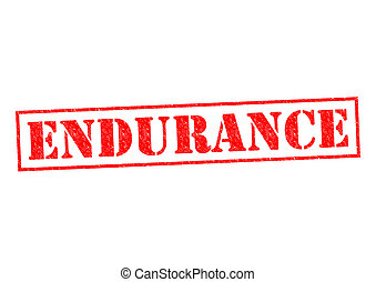 ENDURANCE red Rubber Stamp over a white background