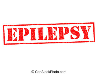 EPILEPSY red Rubber Stamp over a white background