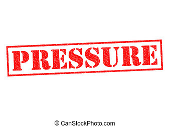 PRESSURE red Rubber Stamp over a white background