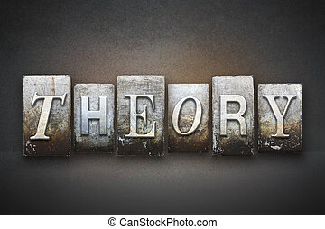 Theory Letterpress - The word THEORY written in vintage...
