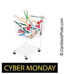 Various Craft Tools in Cyber Monday Shopping Cart - Cyber...