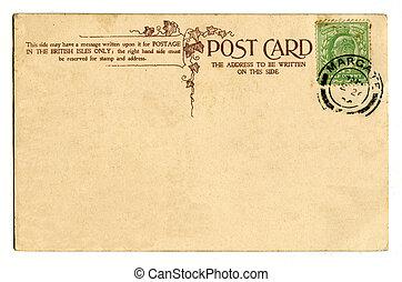 rocznik wina, kartka pocztowa