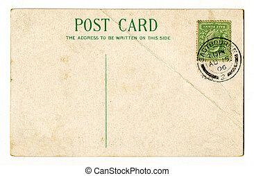 Vintage Postcard - A vintage postcard over a plain white...