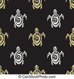 Sea Turtles. Seamless Vector pattern. - Sea Turtles....
