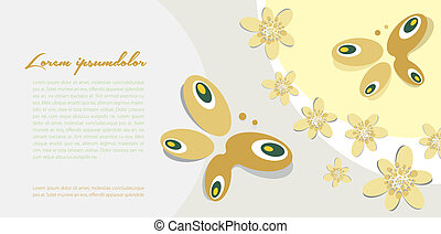 background with butterfly motif