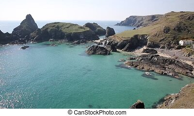 Summer Cornwall coast Kynance Cove - Kynance Cove The Lizard...
