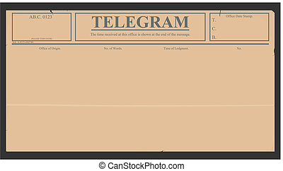 Telegram - Blank telegram in retro style. Vector without...