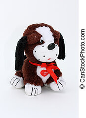 Little plush toy dog - little plushg toy dog, with red tie,...