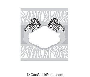 Abstract card with zebra