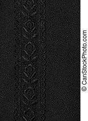 Black flower lace pattern.