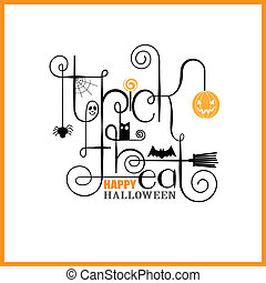 Trick or Treat Happy Halloween Greeting Card