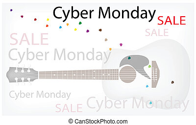 Acoustic Guitars Background of for Cyber Monday Sale