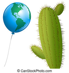 Balloon America Cactus - A balloon that looks like planet...
