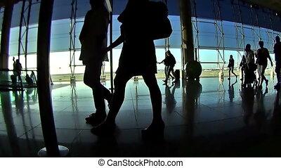 People on the aeroport