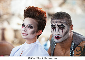 Attractive Cirque Performers - Attractive mixed male and...