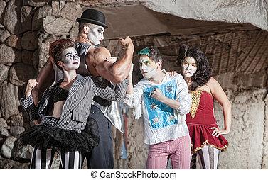 Circo, Comédia, Artistas