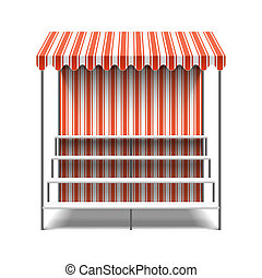 Flower market stall illustration
