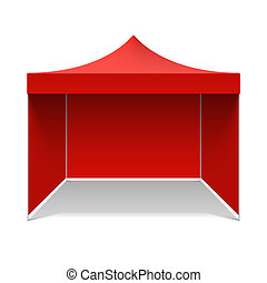 Red folding tent illustration