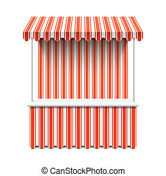 Market stall illustration