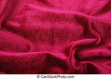 softness red folded velvet background