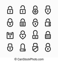 Padlock icons - Set of padlock icons