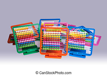 Abacus - Colourful plastic abacus for school and homework