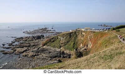 Lizard peninsula Cornwall England UK south of Falmouth and...