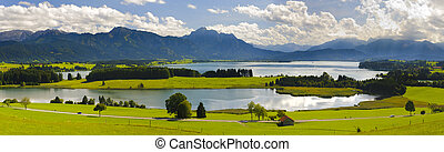 panorama landscape in Bavaria, Germany