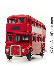 London bus - London traditional routemaster over a white...