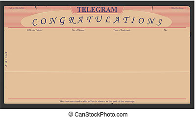Telegram - Blank telegram in retro style Vector without...