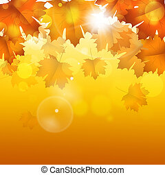 Golden Autumn Bright Background - abstract golden autumn...