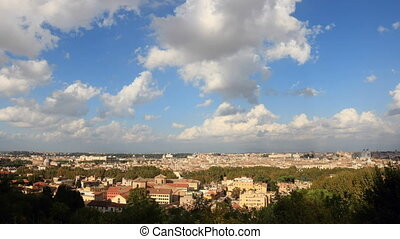Rome Time lapse - City overview Time Lapse from Janiculm...
