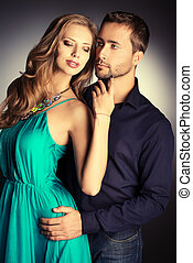 passionate - Portrait of a beautiful young couple in love...