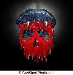 Vampire Blood Concept - Vampire blood concept as a horror...