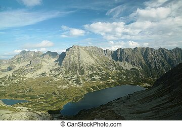 High Tatras in the valley of five ponds, Tatra National...