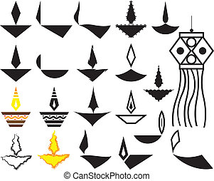 Deepak Ornamental Design Collection Vector Art