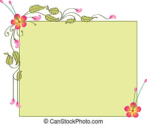 Card Design Artistic Flower