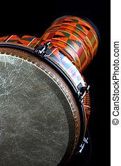 africano, latín, Djembe, conga, tambor