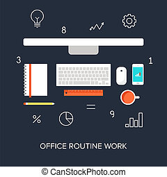 Business concepts. - Vector collection of flat and colorful...