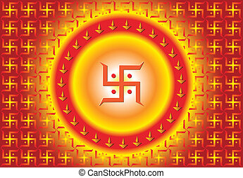 Swastica Symbol The Holy Motif Vector Art
