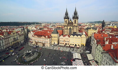 Old Town Square in Prague - PRAGUE, CZECH REPUBLIC,...